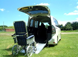 Special vehicle for wheelchair user